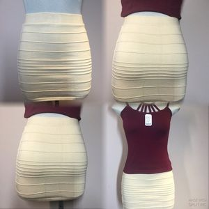 Wow Couture, Spandex  Band Skirt Size S